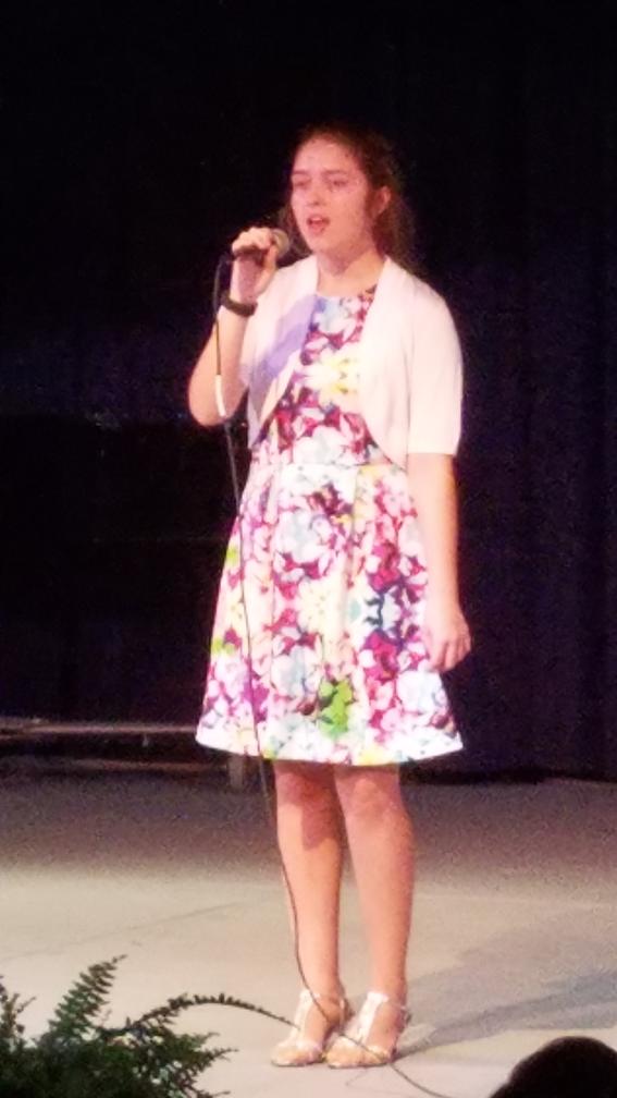 """Karissa Eoff, 11th Grader, sang """"Peter Pan"""""""