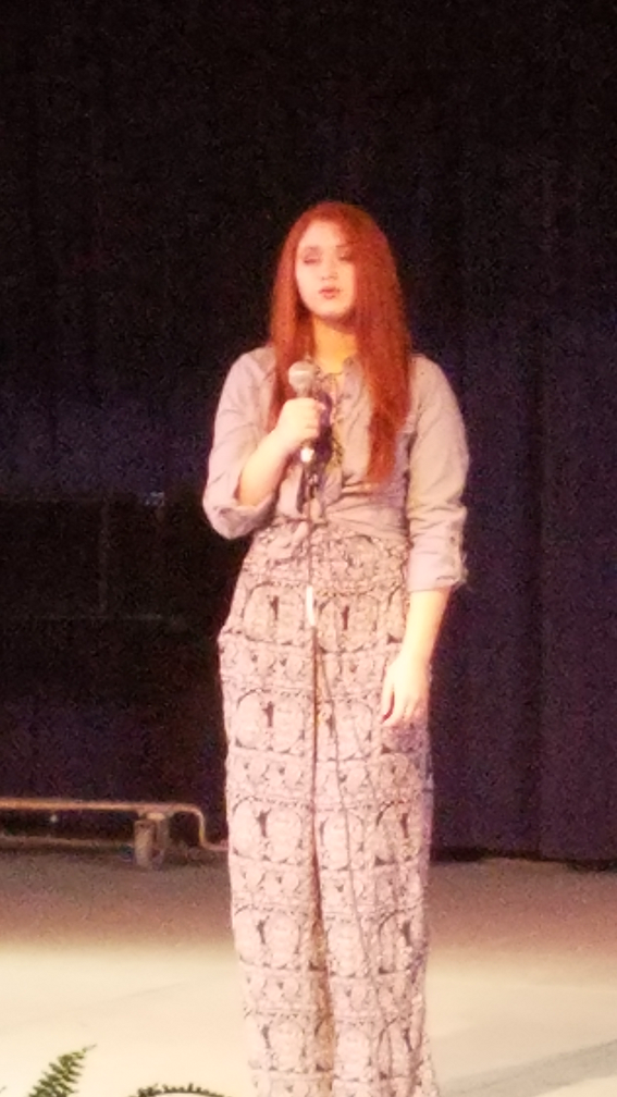 "Nicki Cook, 11th Grader, sang ""Lost Boy"""