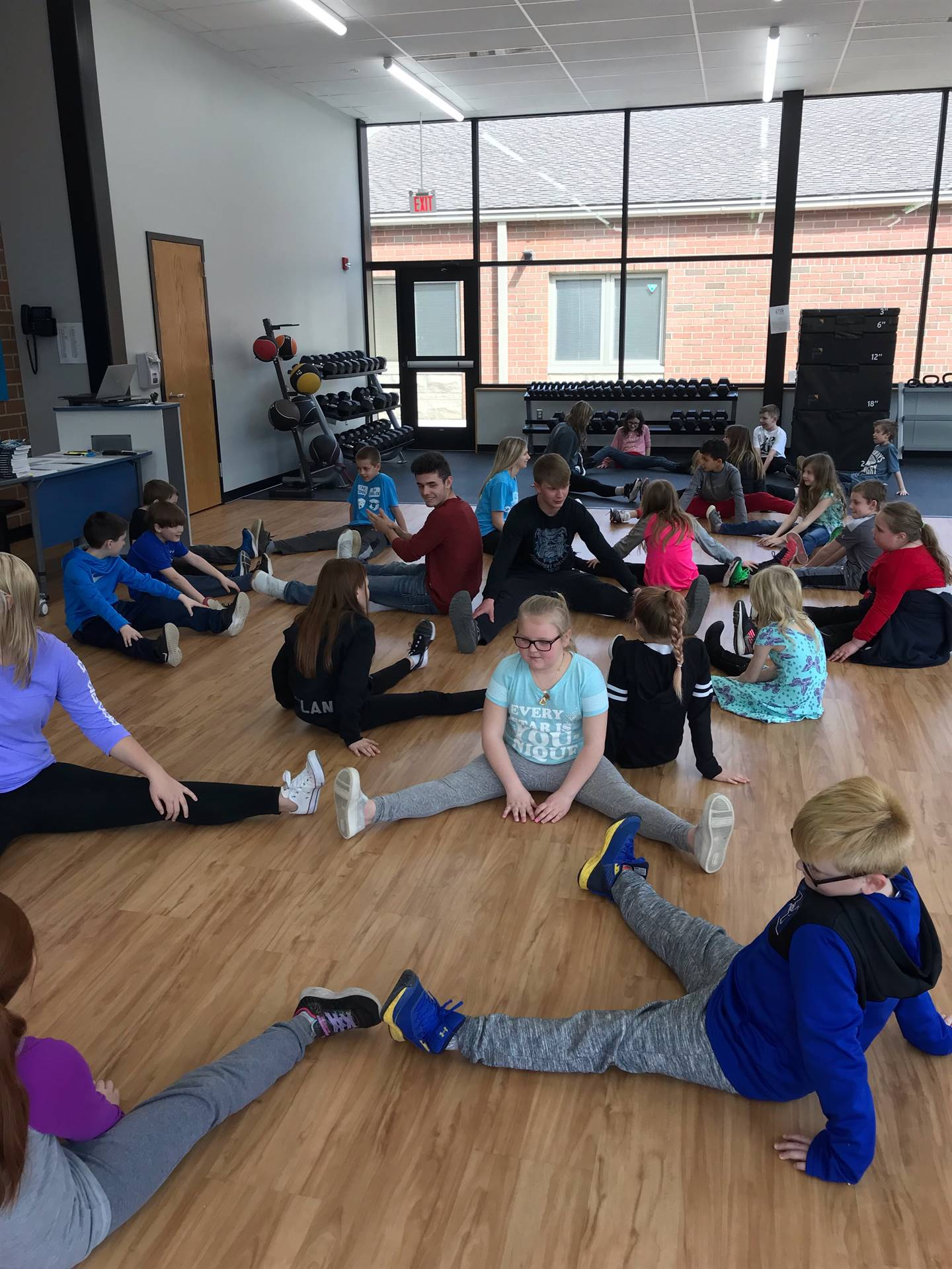 3rd Grade Students Collaborated with the Exercise Science Class