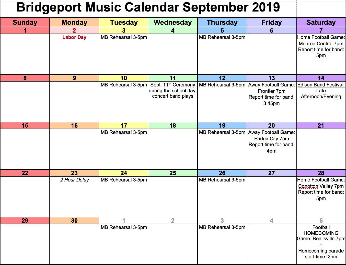 sept. music calendar
