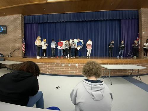 Math Students Participate in The King Distribution III Play