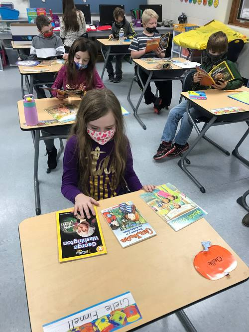 2nd Grade Student Enjoy Reading Donated Books