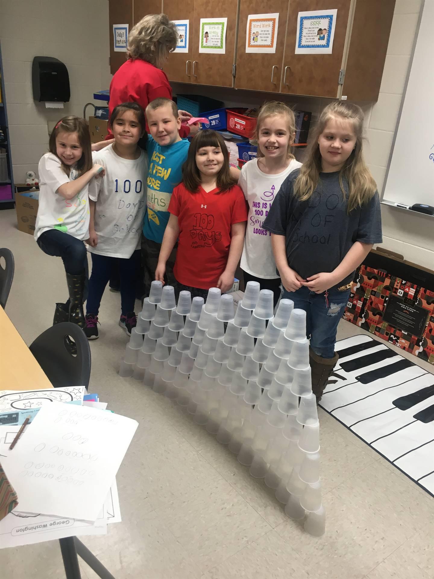 Second grade celebrates 100 days