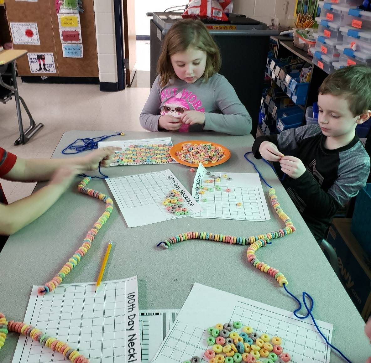 Miss Boyer's First Grade class celebrated the 100th day of school