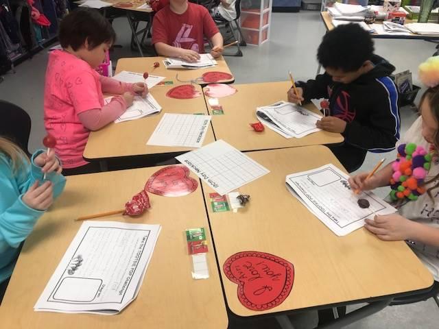 Miss Schambach's Second Grade Class Celebrates 100 days of School