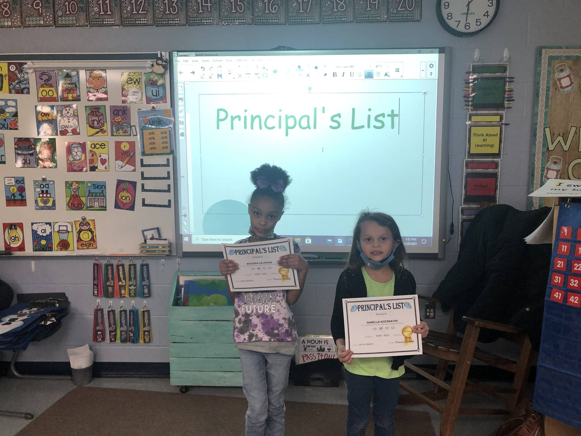 Mrs. Liston's Principal's List