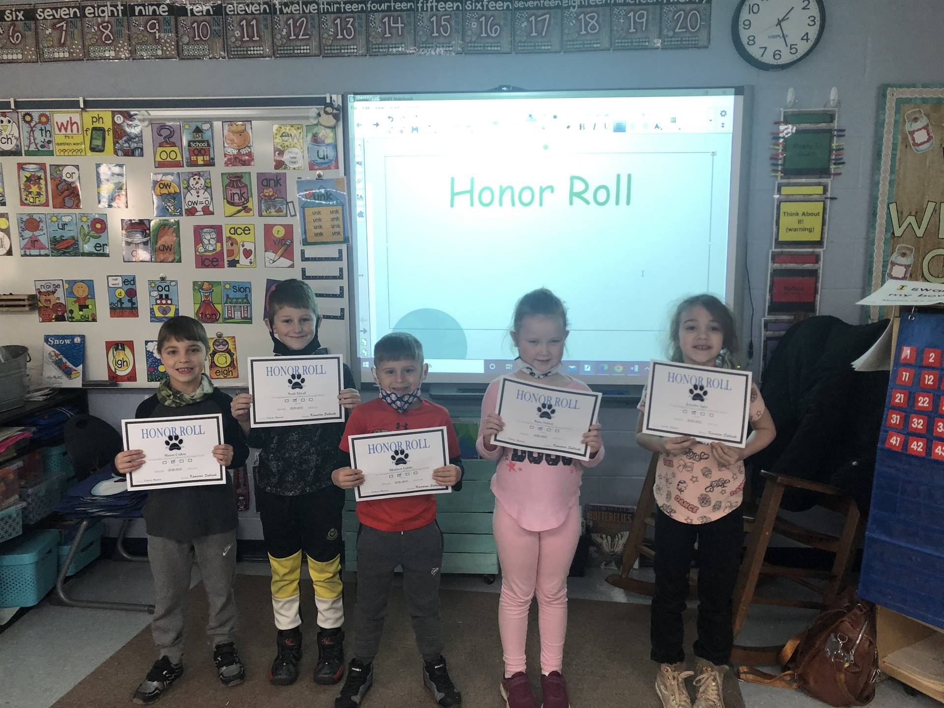 Mrs. Liston's Honor Roll