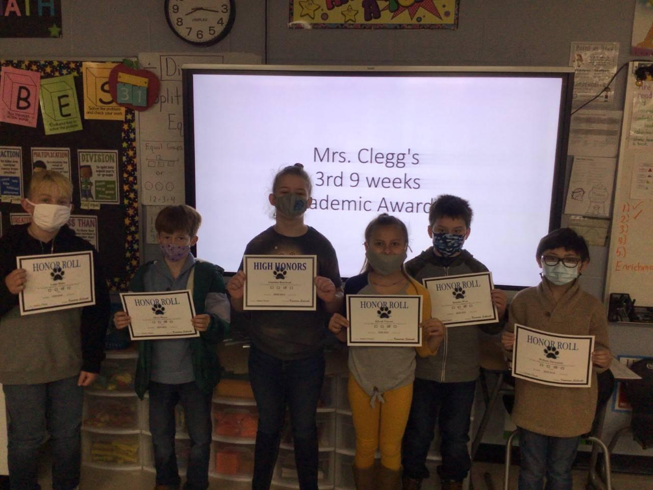 Mrs. Clegg's 3rd Grade Class