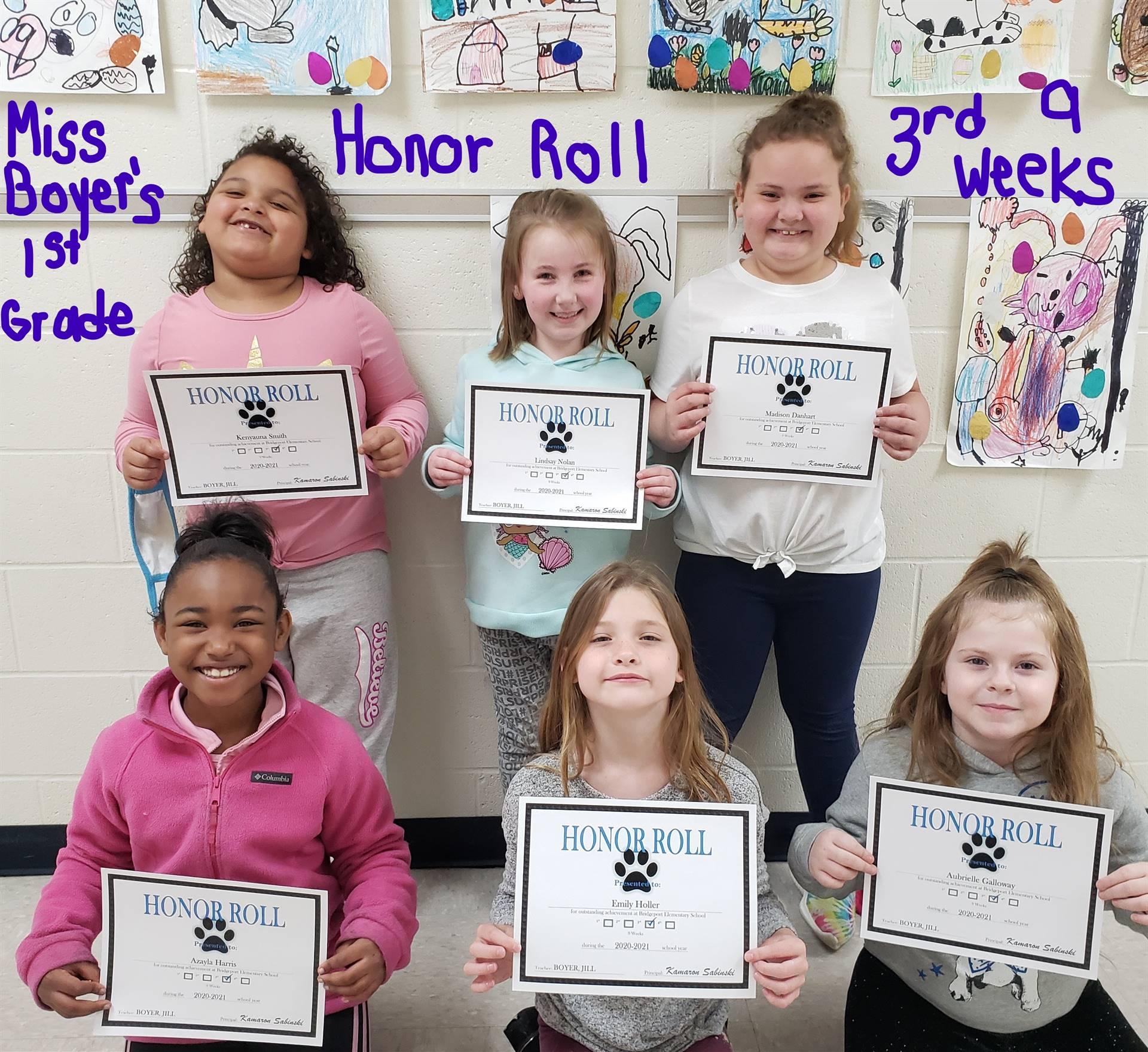 Miss Boyer's 1st Grade Class